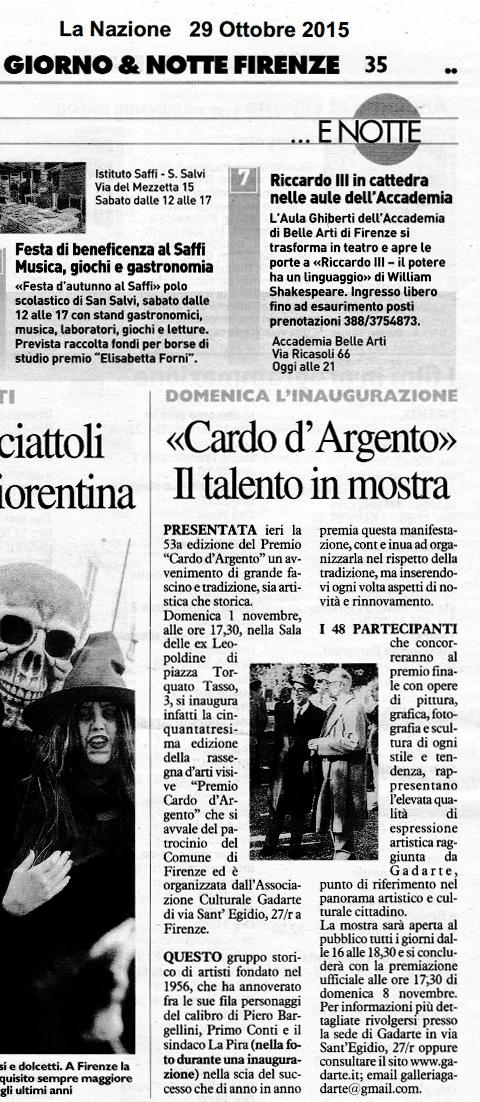 53° Cardo - La Nazione 29.10.2015 (1).jpg